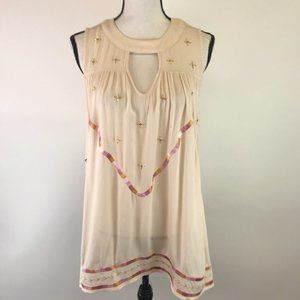 Lauren Conrad Embroidered  Rayon Blouse S